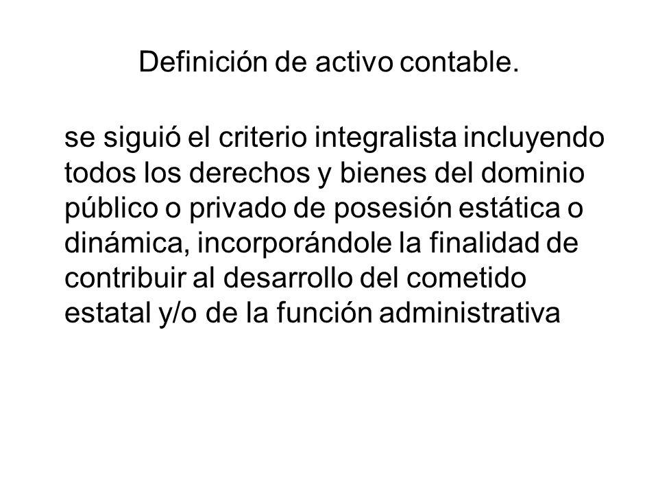 Definición de activo contable.