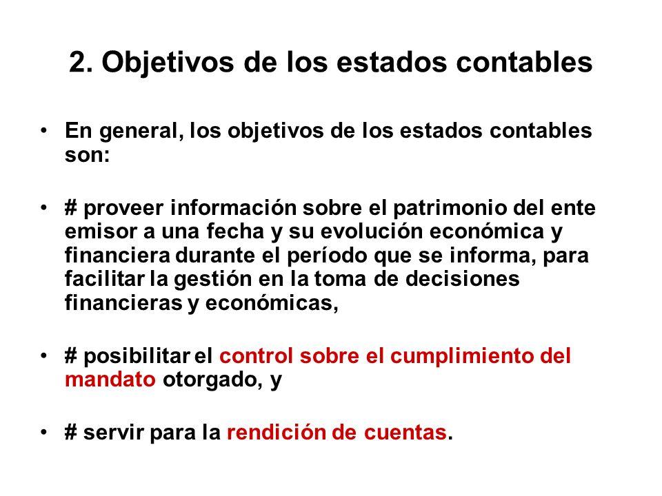 2. Objetivos de los estados contables