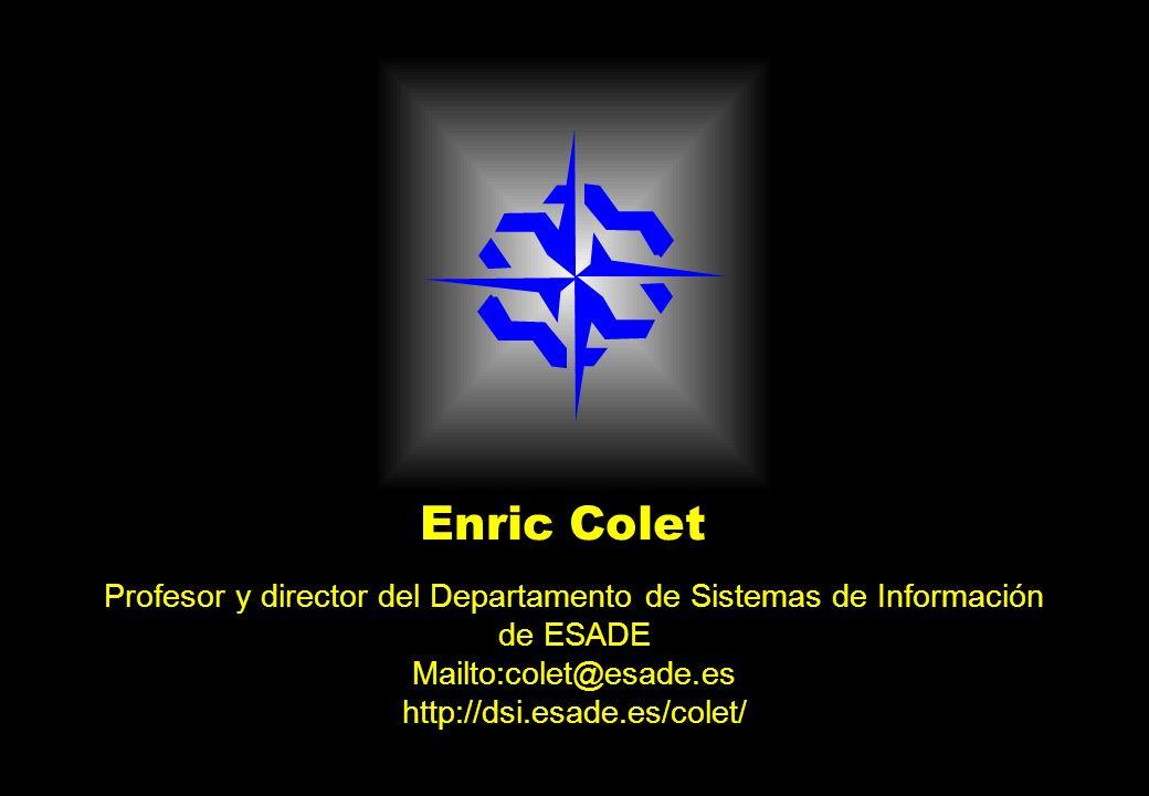 Profesor y director del Departamento de Sistemas de Información