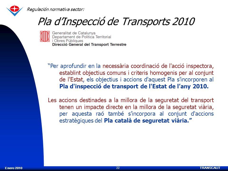 Pla d'Inspecció de Transports 2010