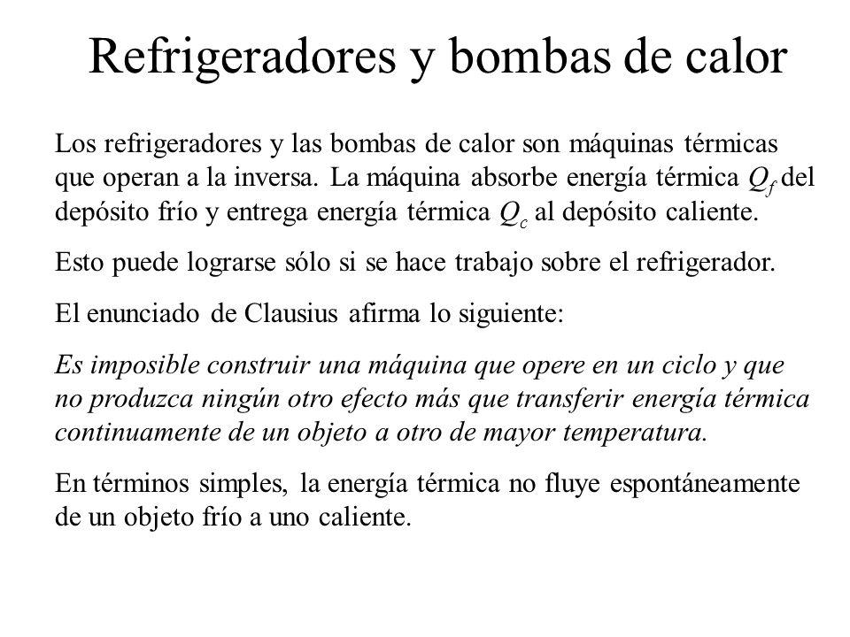 Refrigeradores y bombas de calor