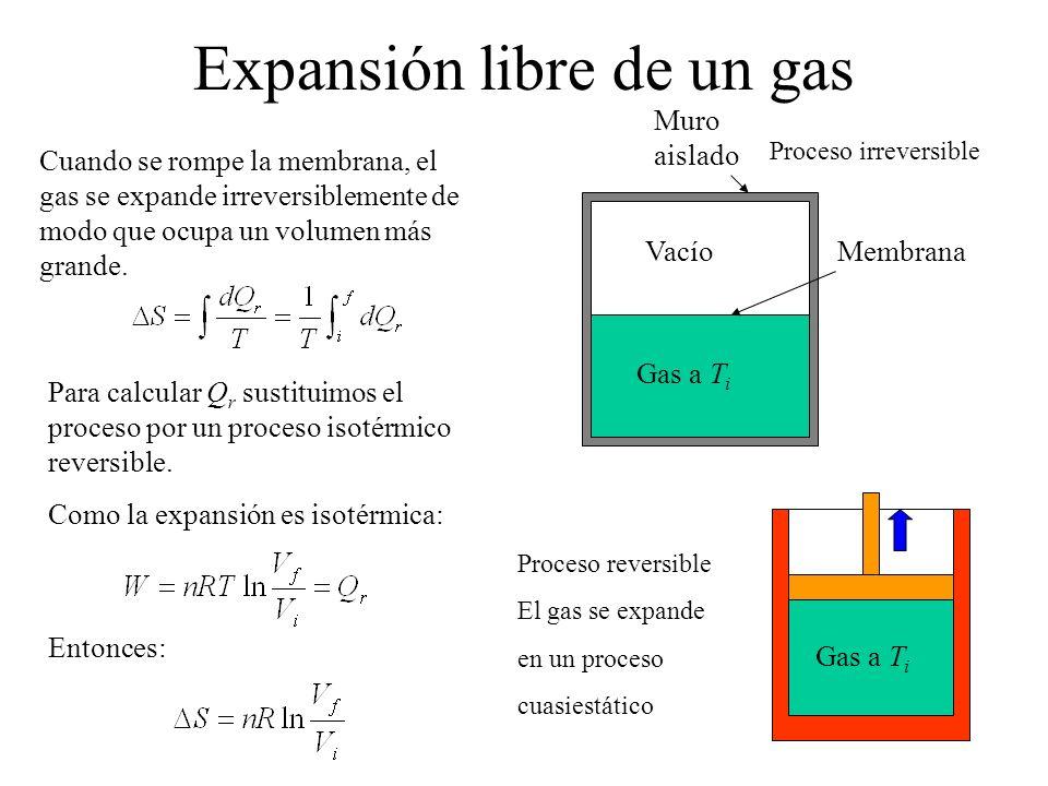 Expansión libre de un gas