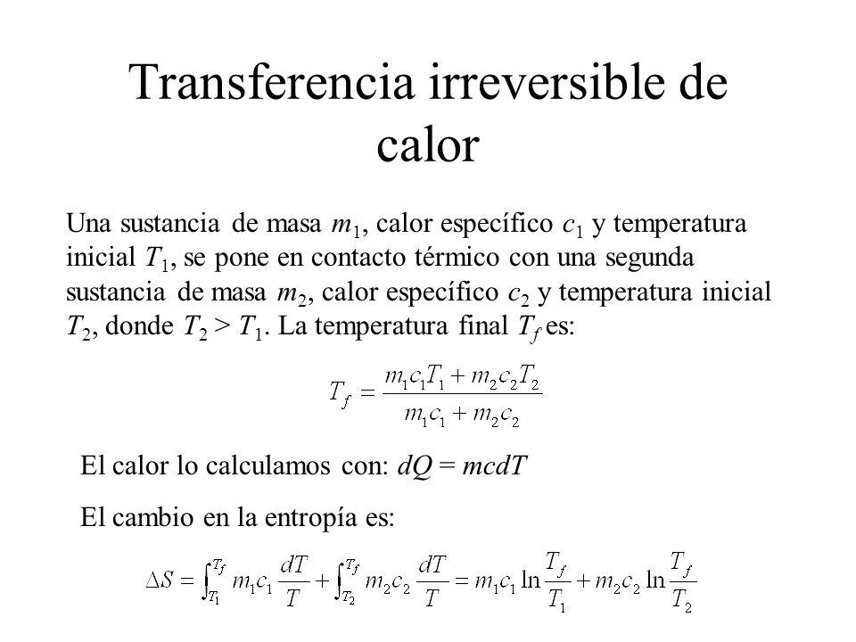 Transferencia irreversible de calor