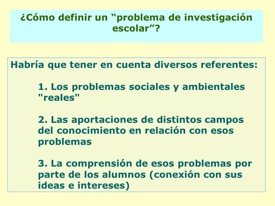 ¿Cómo definir un problema de investigación escolar