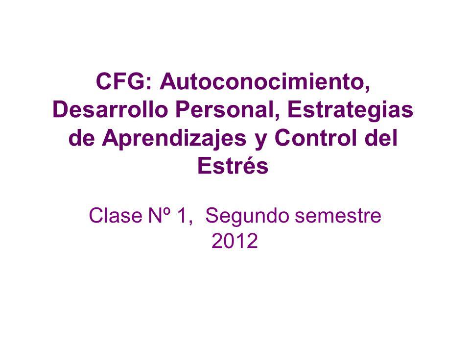 Clase Nº 1, Segundo semestre 2012