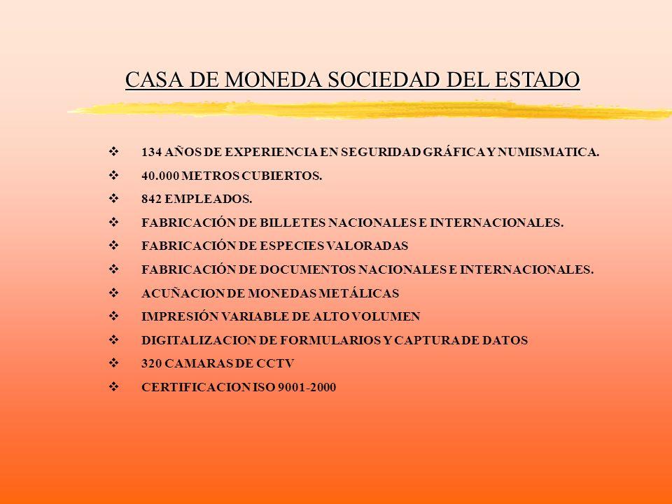 CASA DE MONEDA SOCIEDAD DEL ESTADO