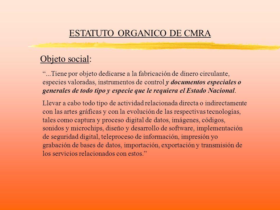 ESTATUTO ORGANICO DE CMRA