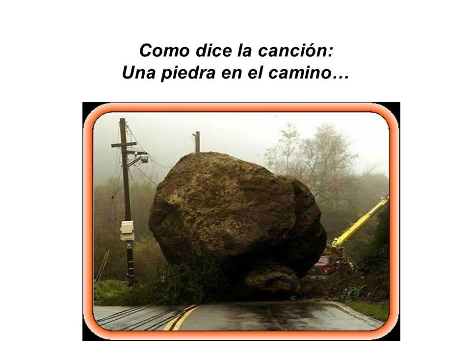 Como dice la canción: Una piedra en el camino…
