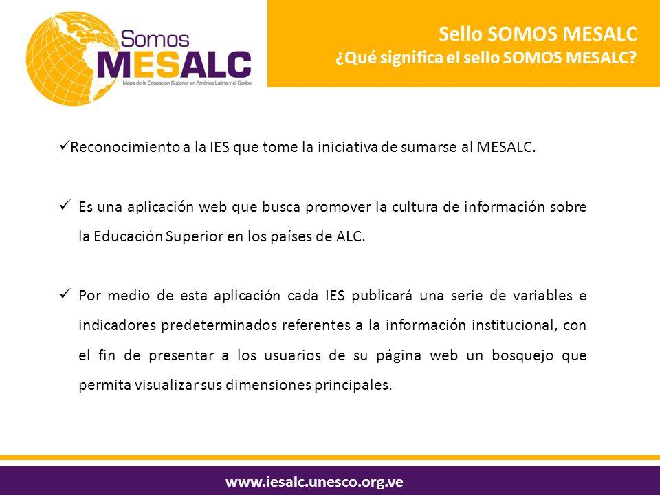 Sello SOMOS MESALC ¿Qué significa el sello SOMOS MESALC
