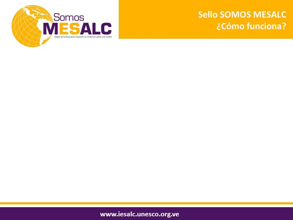 Sello SOMOS MESALC ¿Cómo funciona www.iesalc.unesco.org.ve