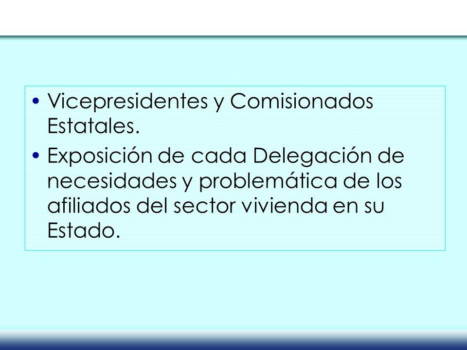 Vicepresidentes y Comisionados Estatales.