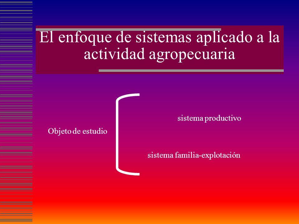 El enfoque de sistemas aplicado a la actividad agropecuaria
