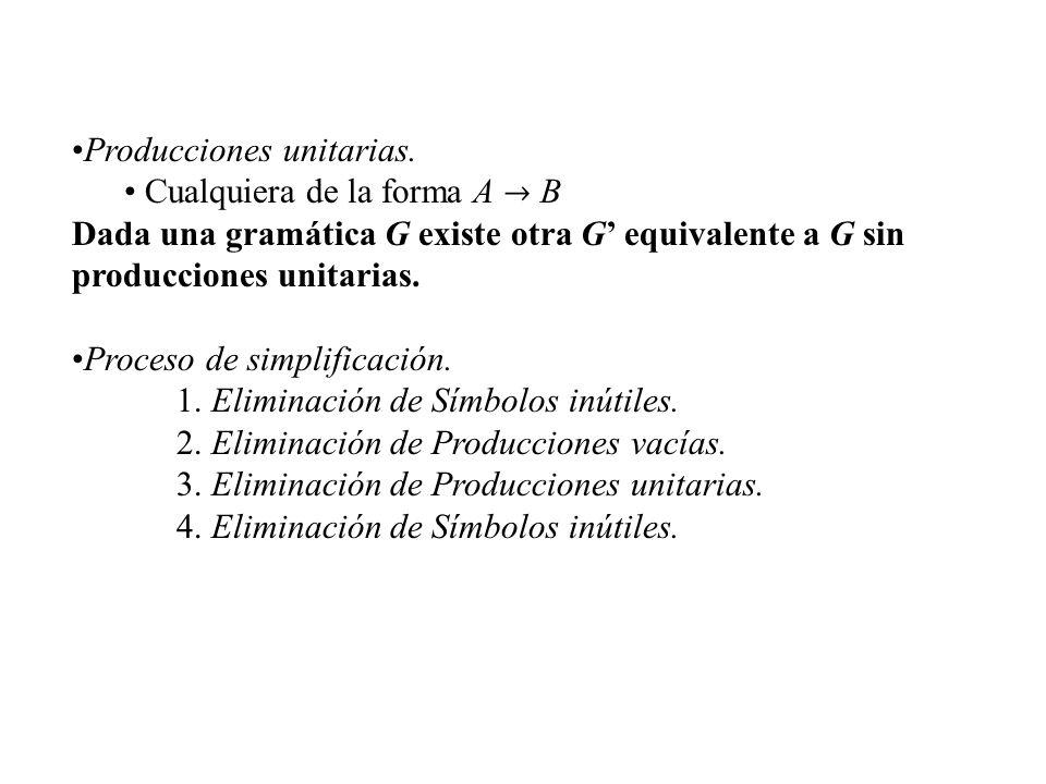 Producciones unitarias.