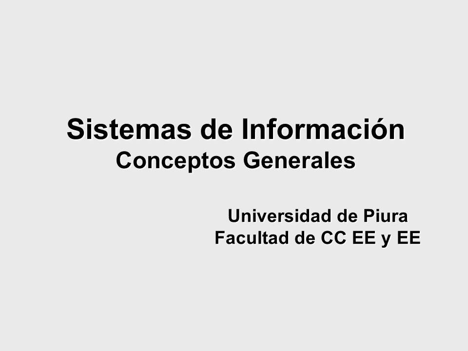 Sistemas de Información Conceptos Generales