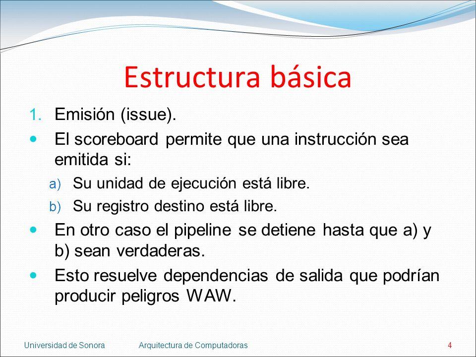Estructura básica Emisión (issue).