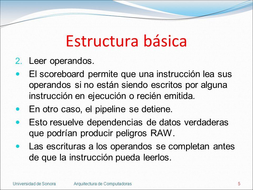 Estructura básica Leer operandos.