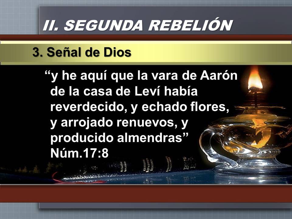 II. SEGUNDA REBELIÓN 3. Señal de Dios