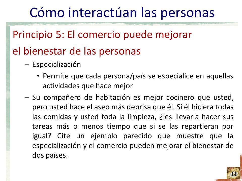 Cómo interactúan las personas