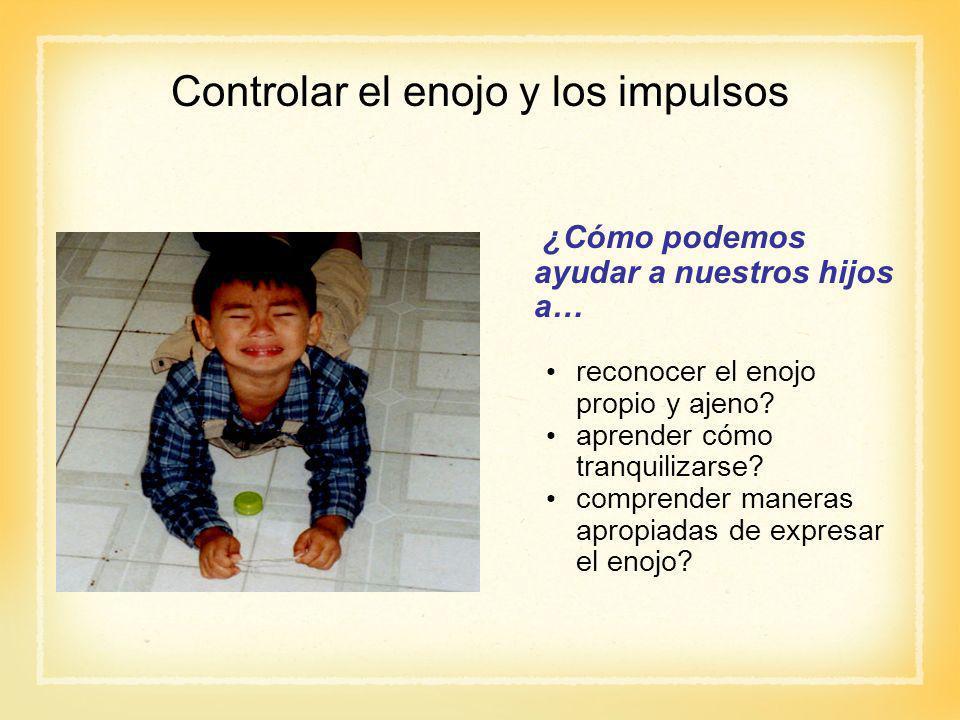 Controlar el enojo y los impulsos