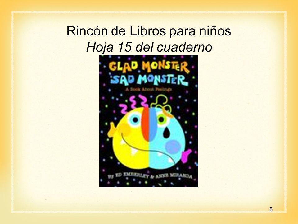 Rincón de Libros para niños Hoja 15 del cuaderno