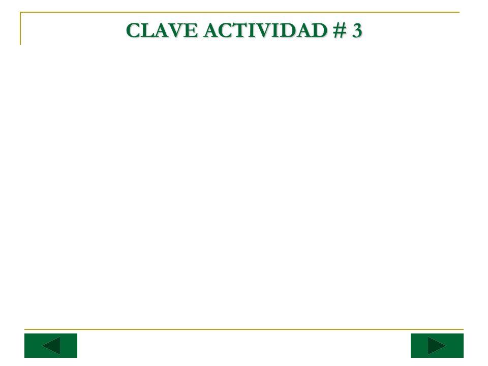 CLAVE ACTIVIDAD # 3