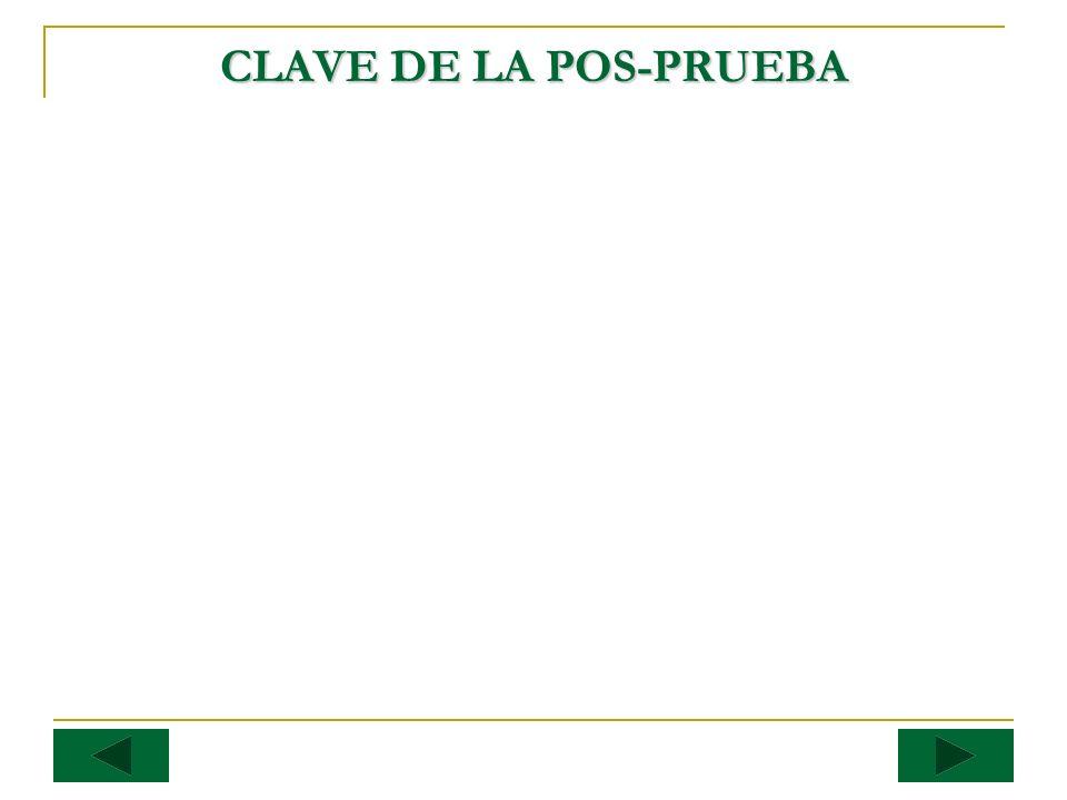 CLAVE DE LA POS-PRUEBA