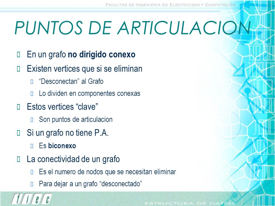 PUNTOS DE ARTICULACION