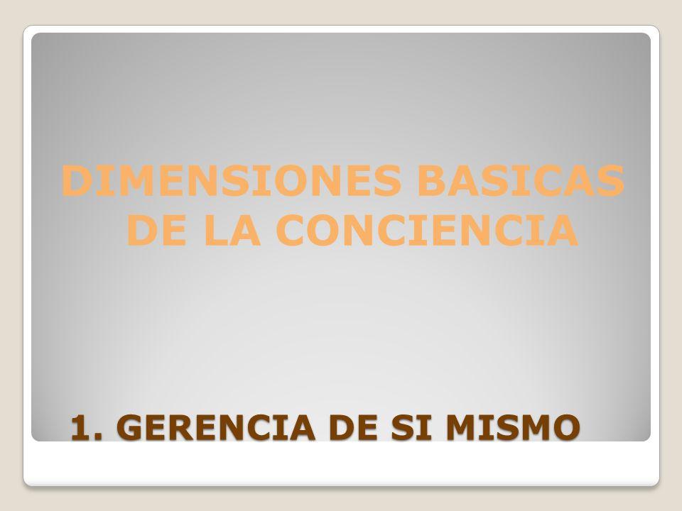 DIMENSIONES BASICAS DE LA CONCIENCIA
