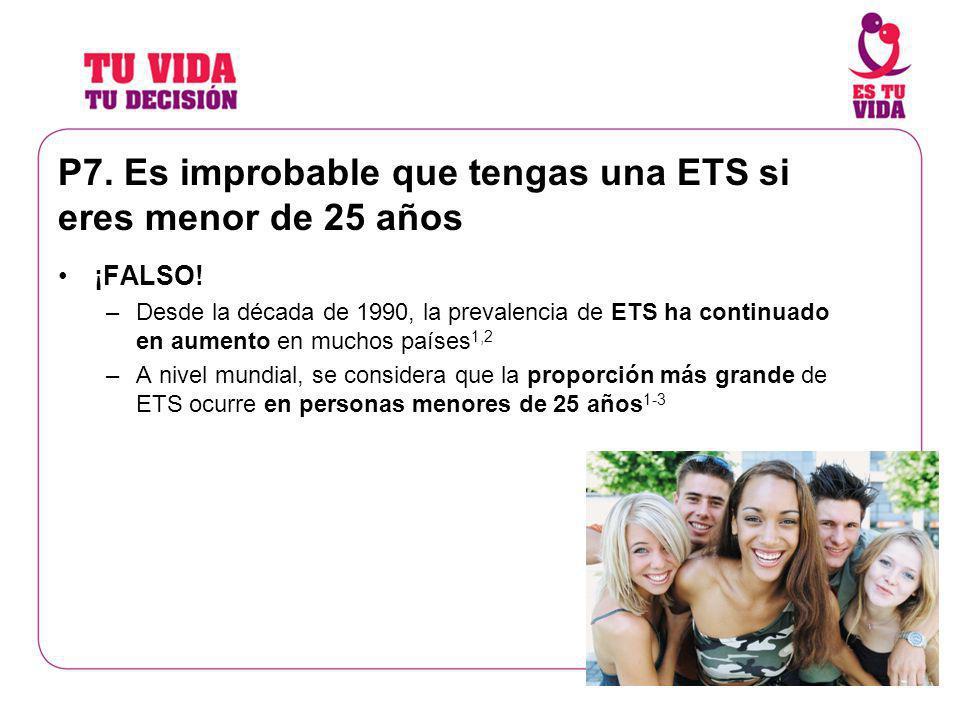 P7. Es improbable que tengas una ETS si eres menor de 25 años
