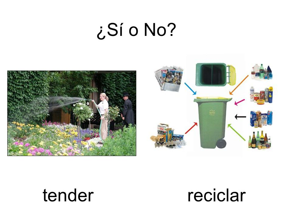 ¿Sí o No tender reciclar