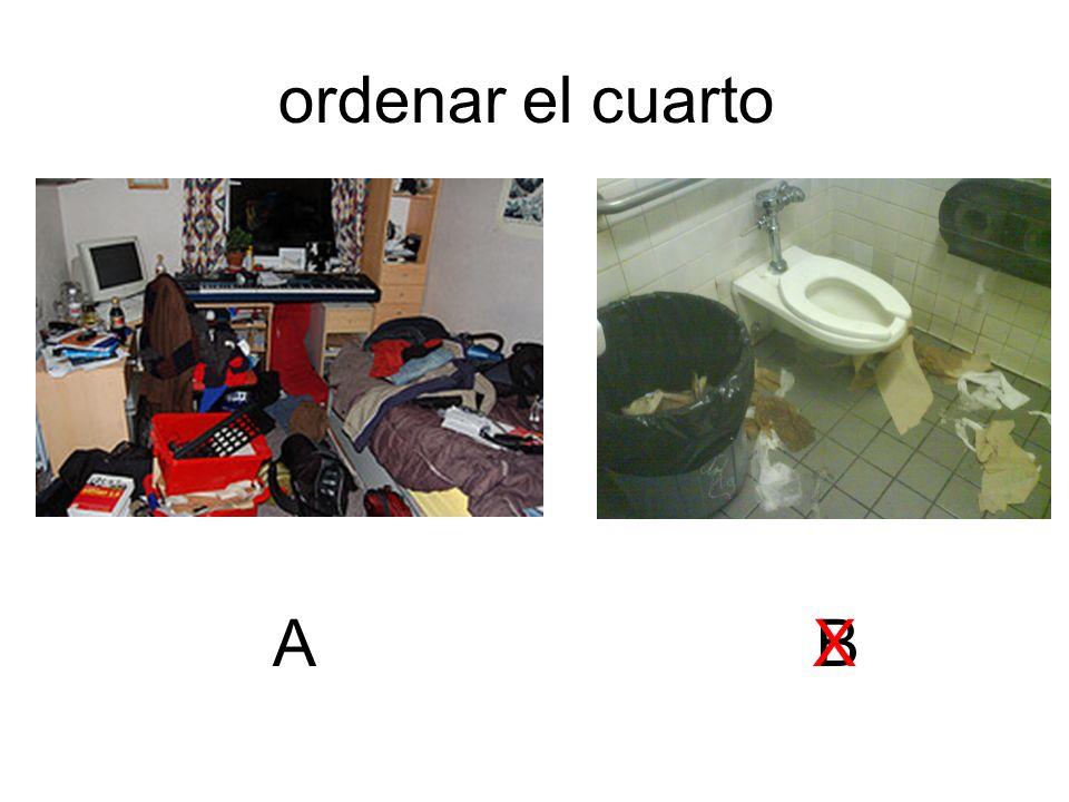 ordenar el cuarto A B X