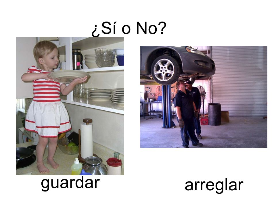 ¿Sí o No guardar arreglar