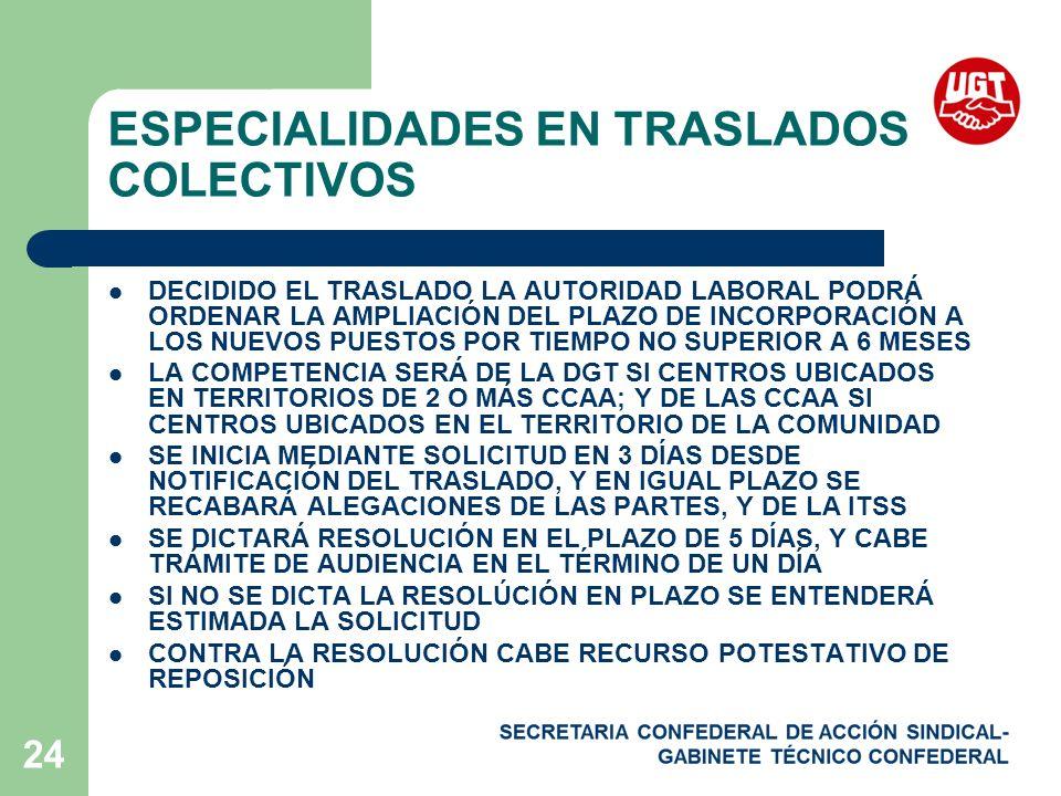 ESPECIALIDADES EN TRASLADOS COLECTIVOS