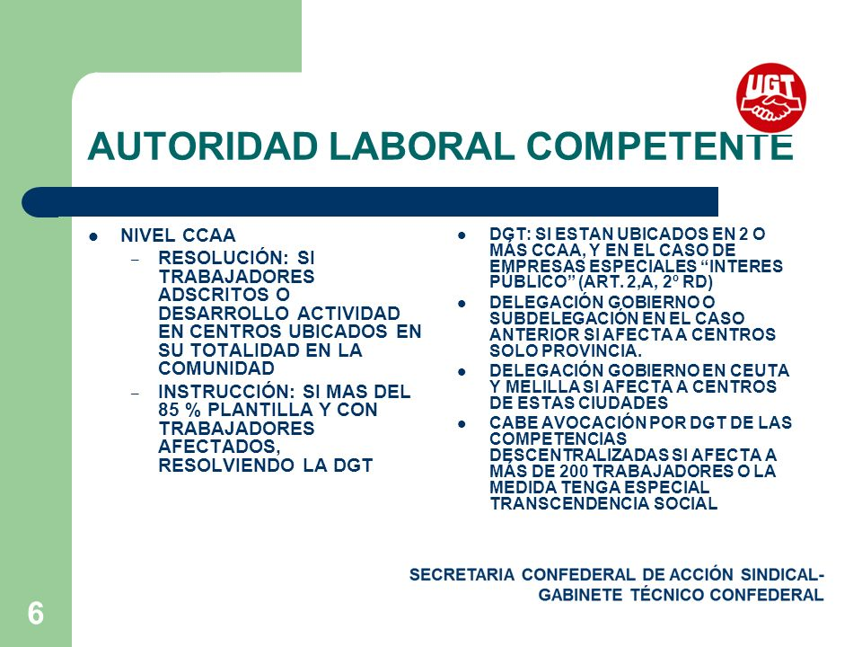AUTORIDAD LABORAL COMPETENTE