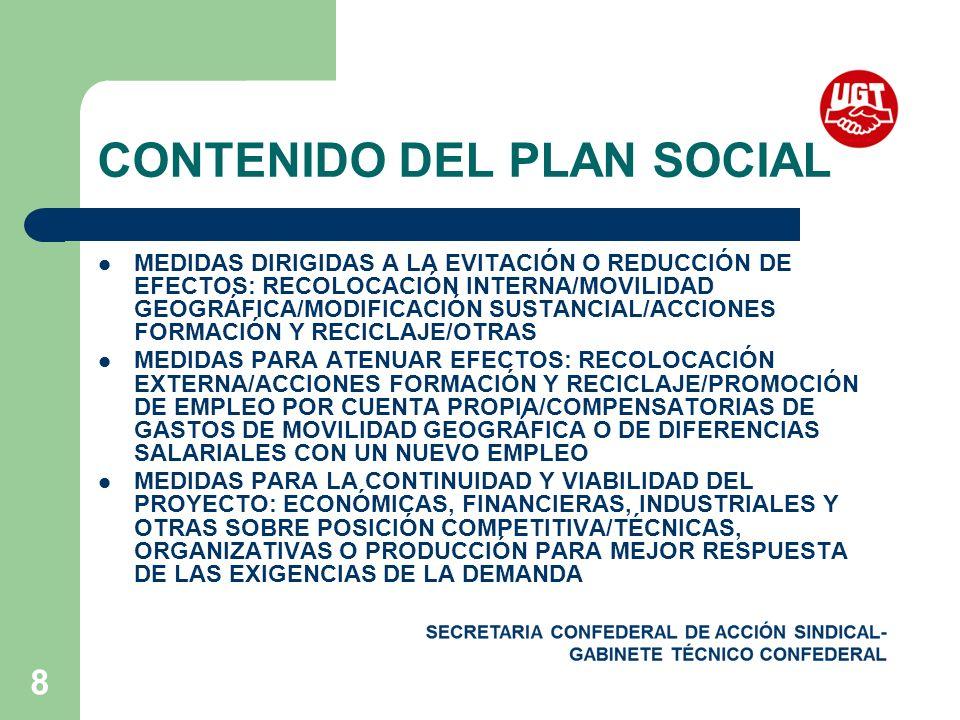 CONTENIDO DEL PLAN SOCIAL