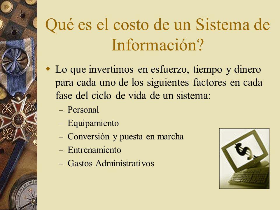 Qué es el costo de un Sistema de Información