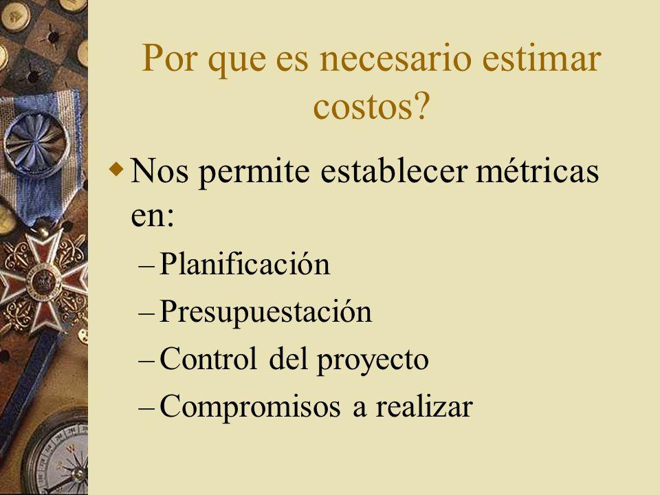 Por que es necesario estimar costos