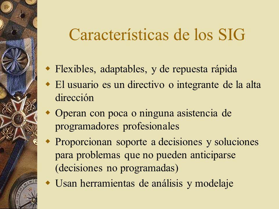 Características de los SIG