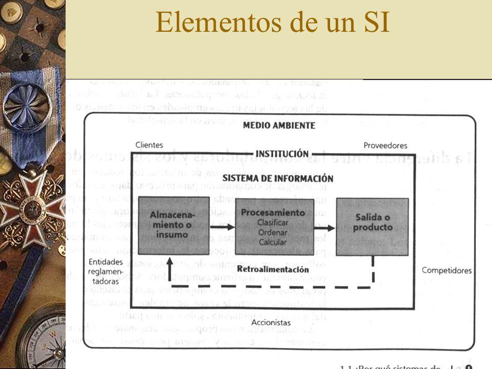 Elementos de un SI Fig 1.2 pag 9