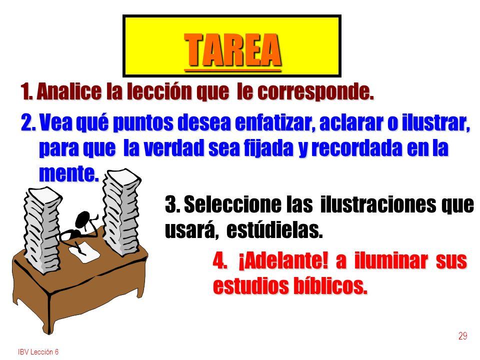 TAREA 1. Analice la lección que le corresponde.