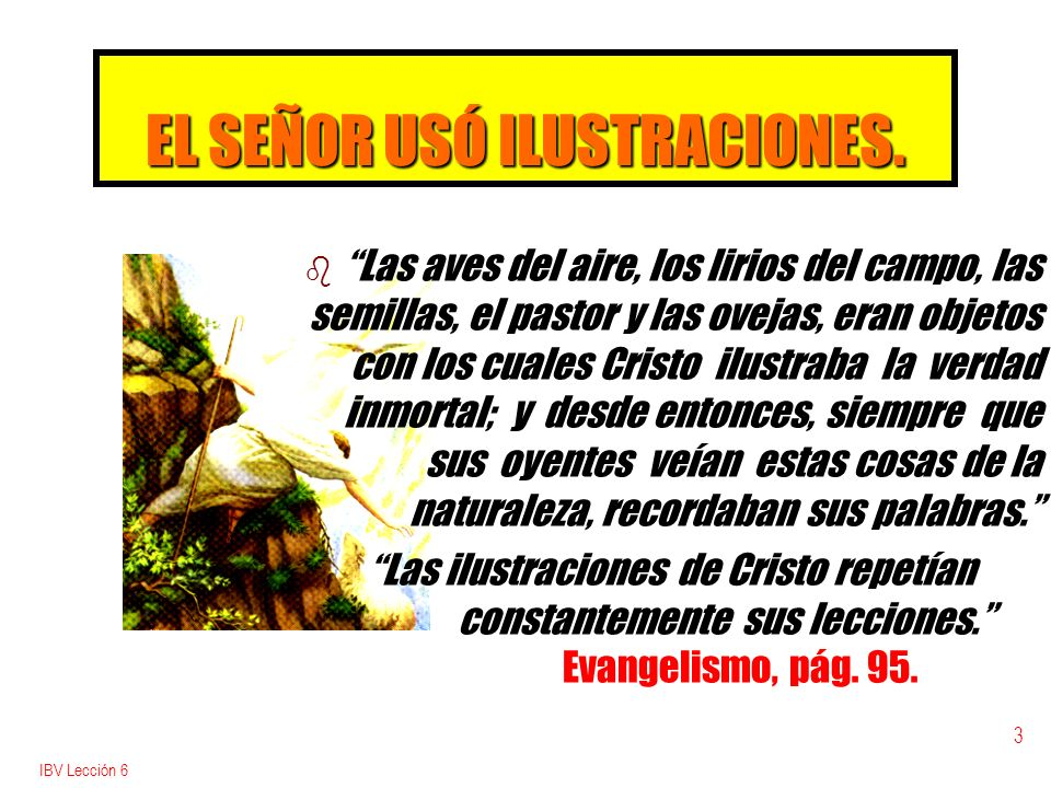 EL SEÑOR USÓ ILUSTRACIONES.