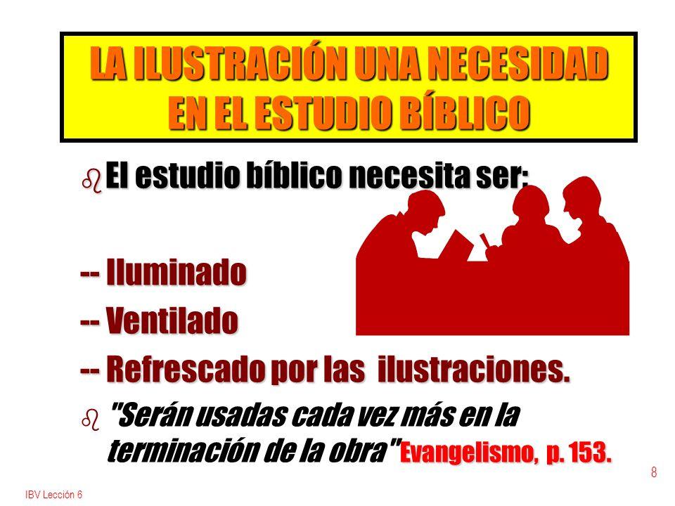LA ILUSTRACIÓN UNA NECESIDAD EN EL ESTUDIO BÍBLICO