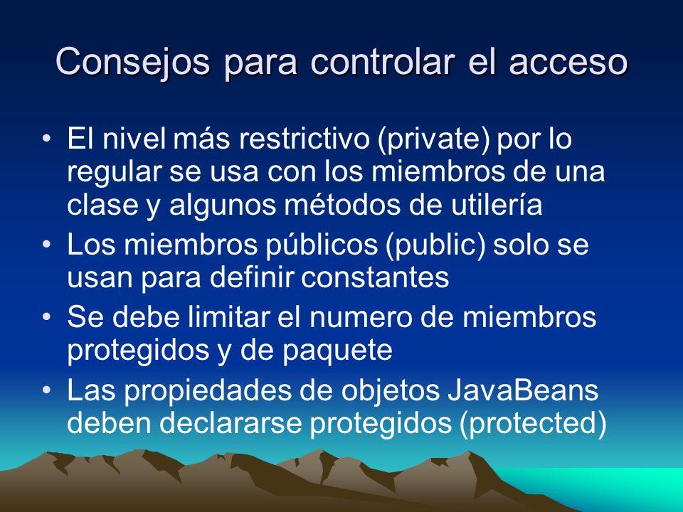 Consejos para controlar el acceso