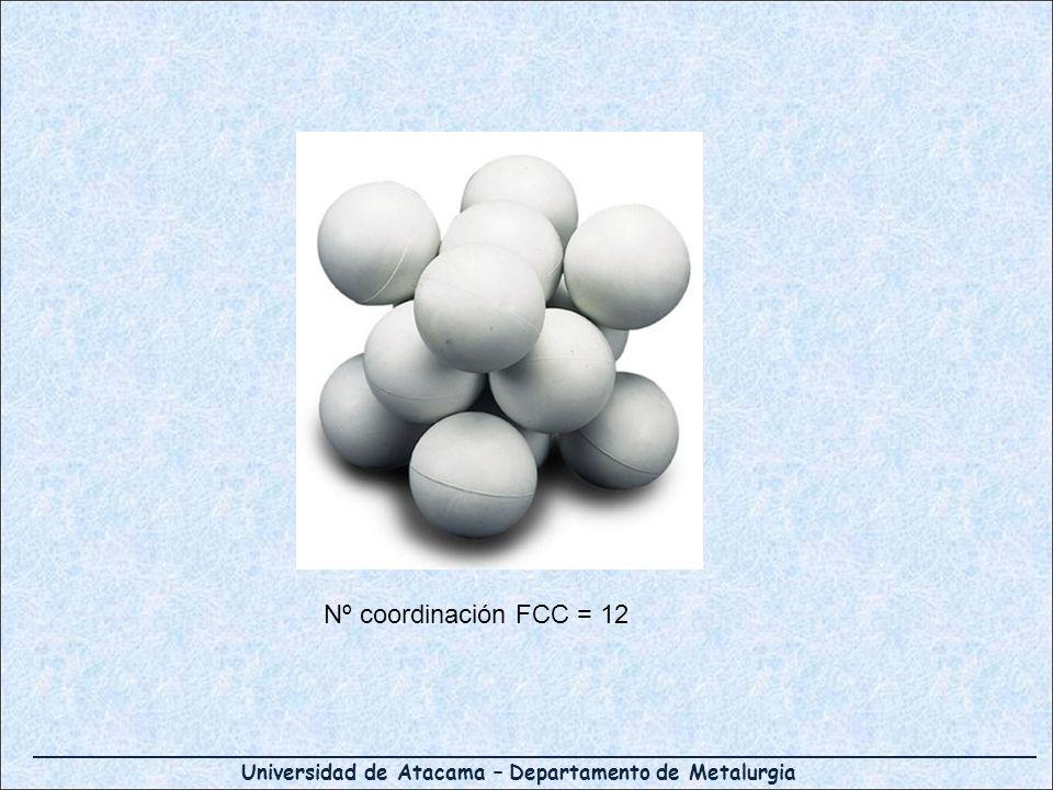 Nº coordinación FCC = 12