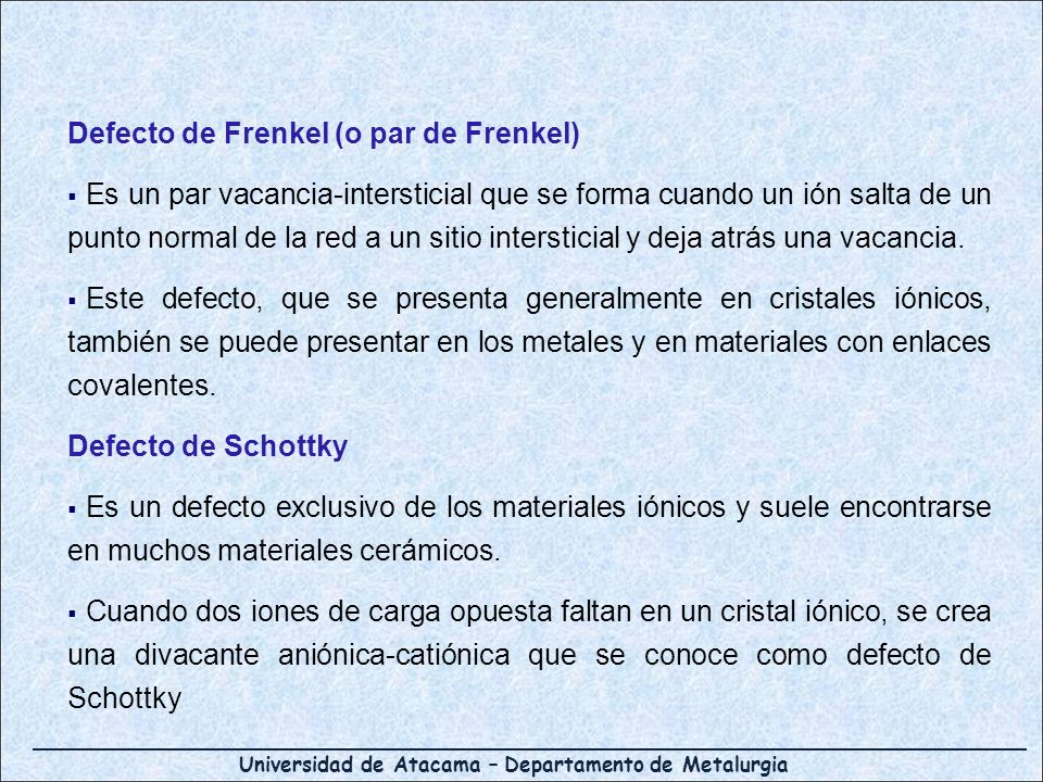 Defecto de Frenkel (o par de Frenkel)