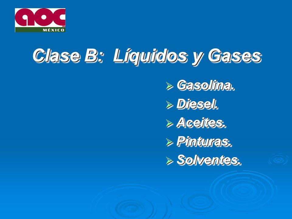 Clase B: Líquidos y Gases