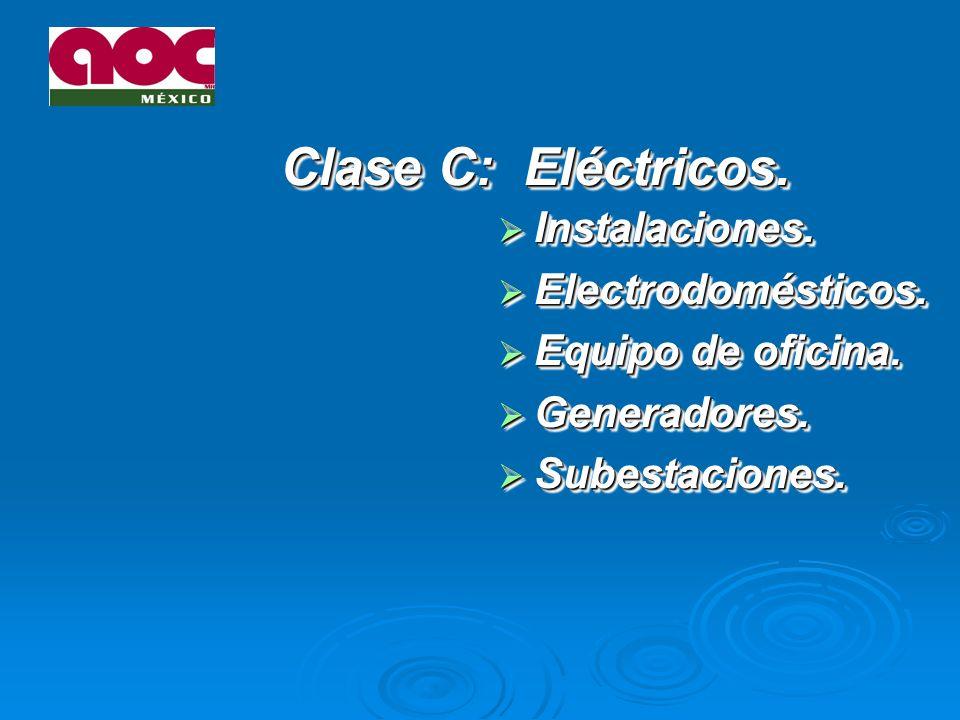 Clase C: Eléctricos. Instalaciones. Electrodomésticos.