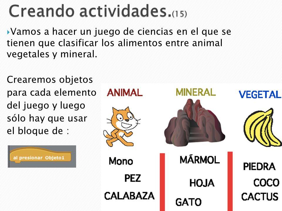 Creando actividades.(15)