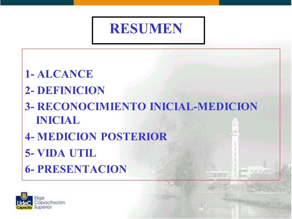 RESUMEN 1- ALCANCE 2- DEFINICION