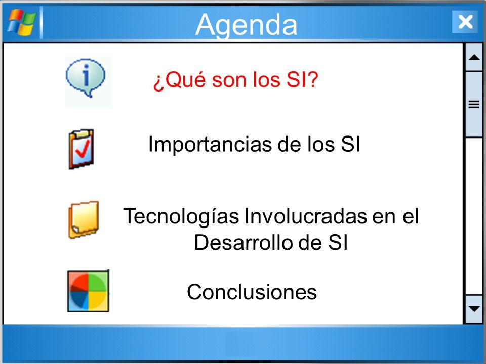 Tecnologías Involucradas en el Desarrollo de SI